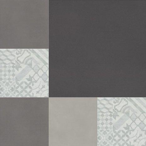 wineo Designboden Verlegekombinationen Muster Vintage Schwarz Grau