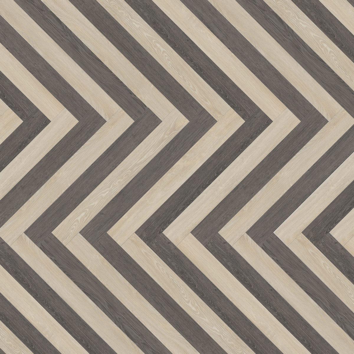 wineo Designboden Verlegekombinationen Muster hell und dunkel schräg
