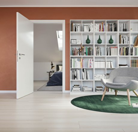 wineo 500 Laminatboden Wohnbereich Lesezimmer Smooth Oak White LA164LV4