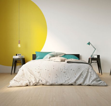 wineo 500 Laminatboden Schlafzimmer Flowered Oak Beige LA170MV4