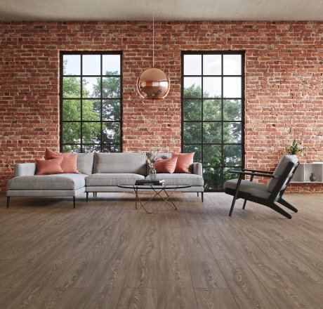 wineo 500 Laminatboden Wohnzimmer Flowered Oak Darkbrown LA172MV4